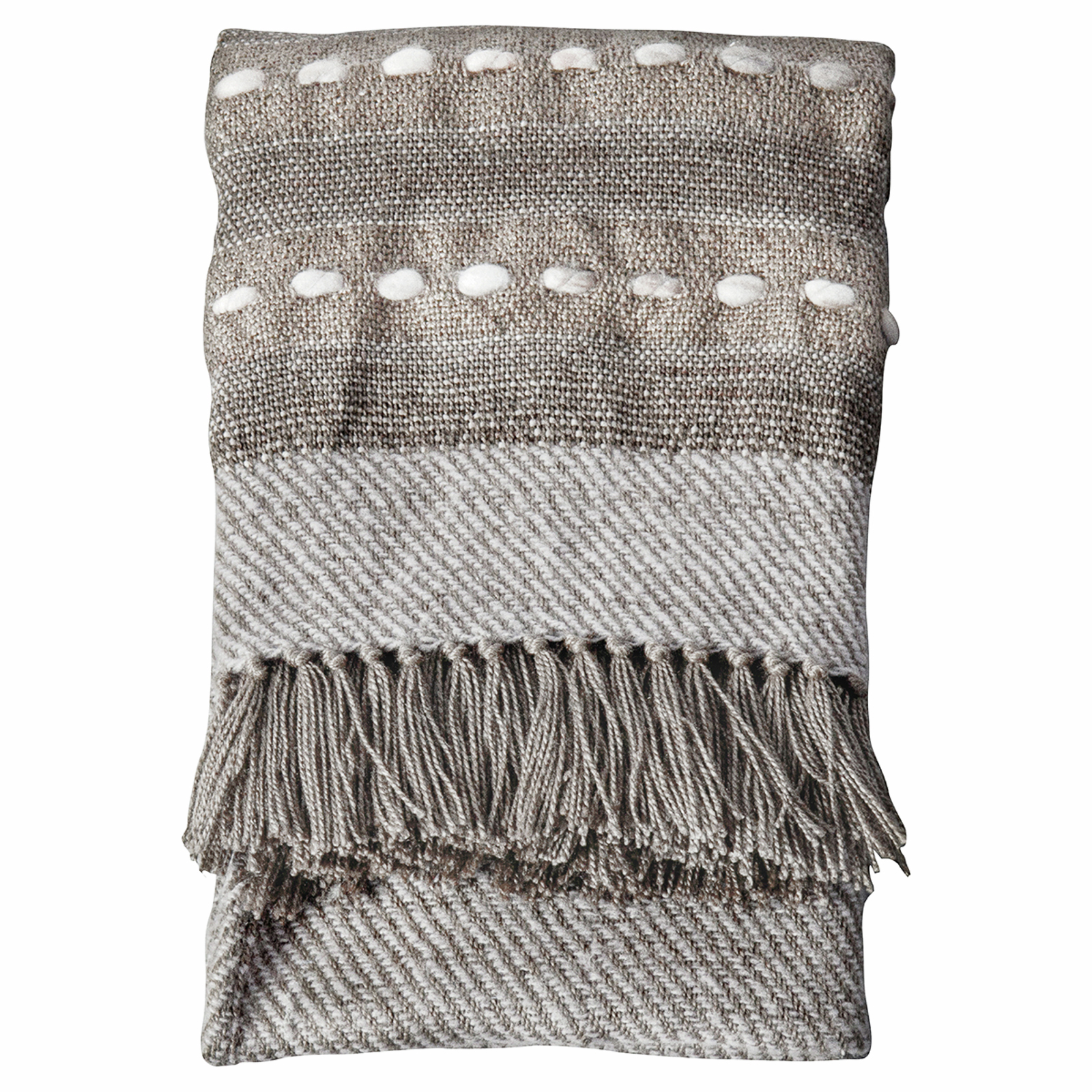 Natural Hand Embellished Throw