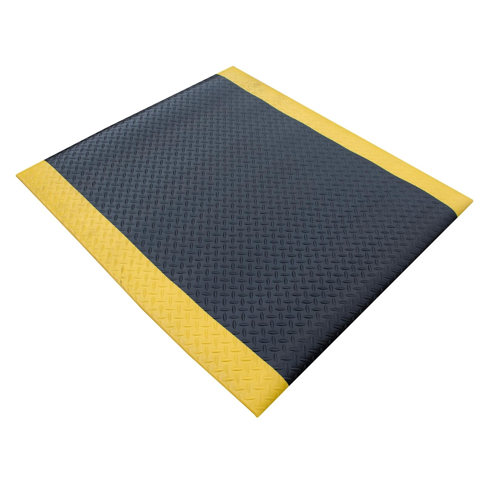 Matpro 90 x 120cm Safety Soft Foot Mat Yellow Border