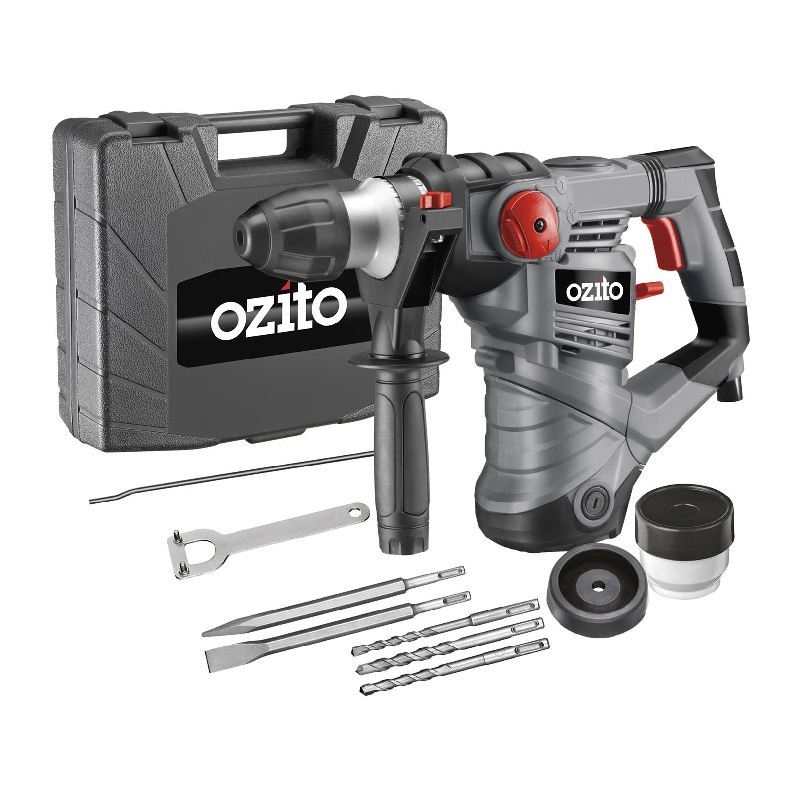 Ozito 1600W SDS+ 4J Rotary Hammer Drill Kit