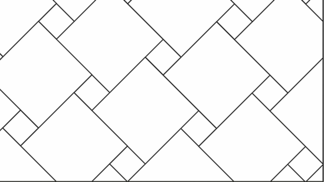 Pinwheel or Hopscotch tile pattern