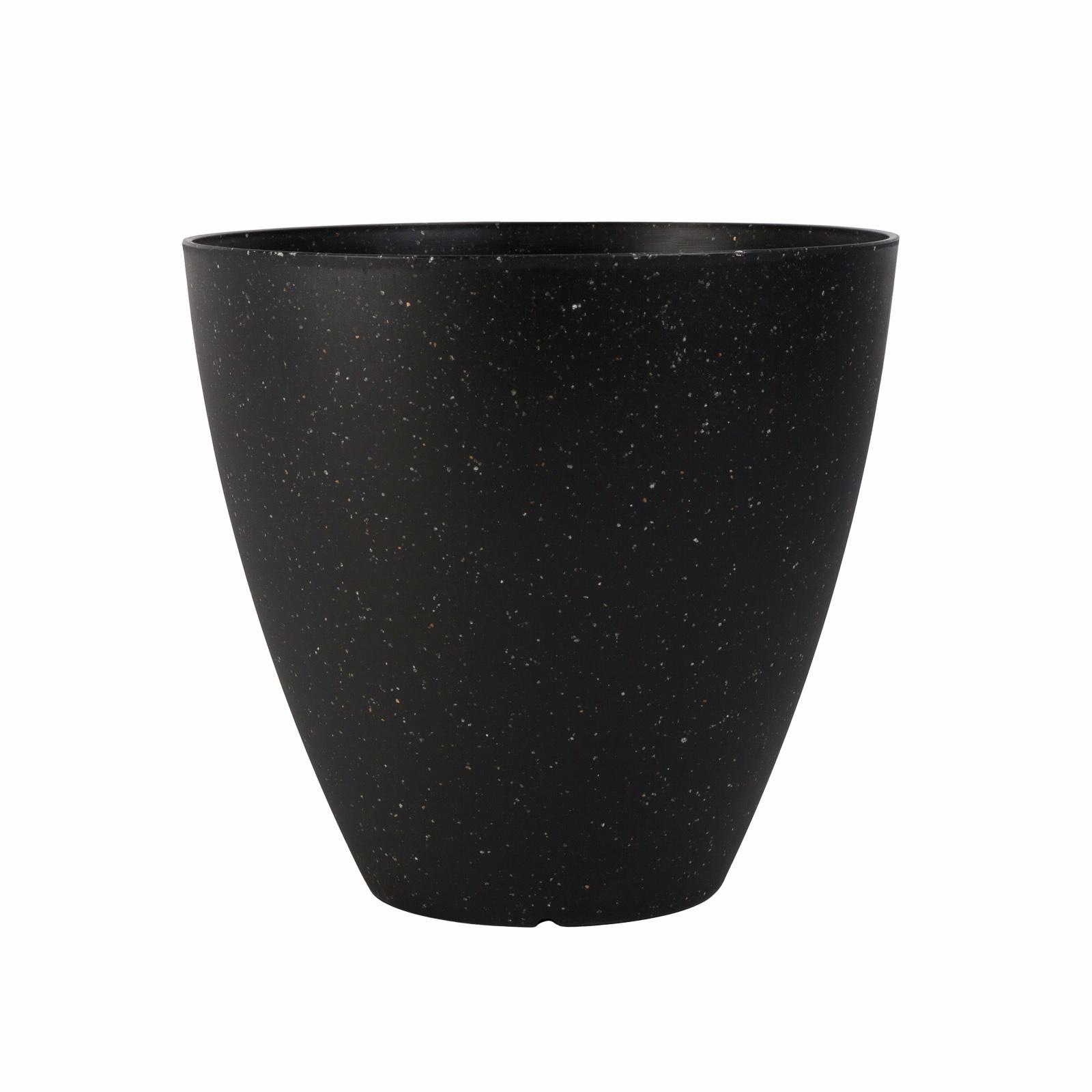 Northcote Pottery 30cm Black Terrazzo Self Watering Pot