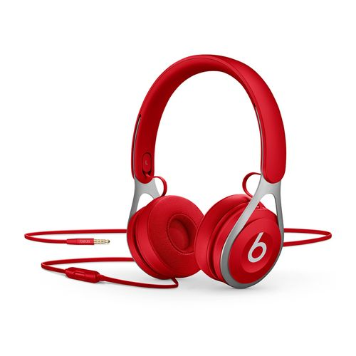 Beats EP Lightweight Wired On Ear Adjustable Headphones Music Control/Calls Red