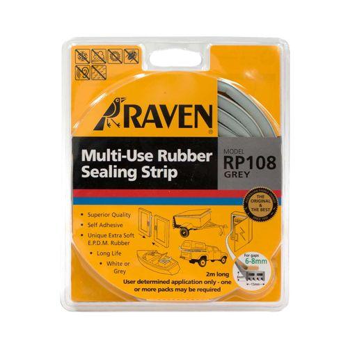 Raven 2m Grey Multi Use  Rubber Sealing Strip