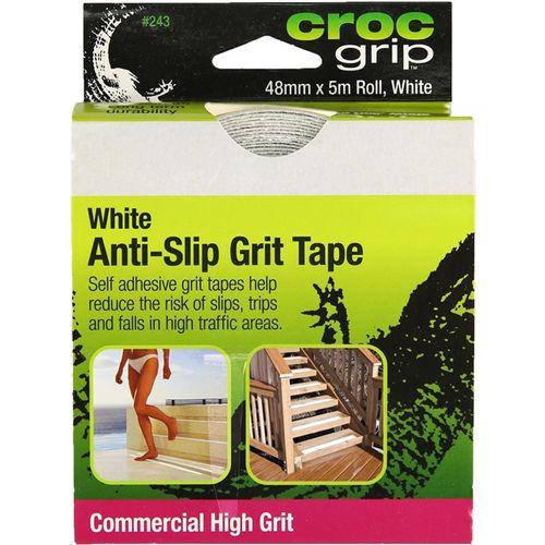 Croc Grip Anti-Slip Grit Tape 48x5000mm White Commercial