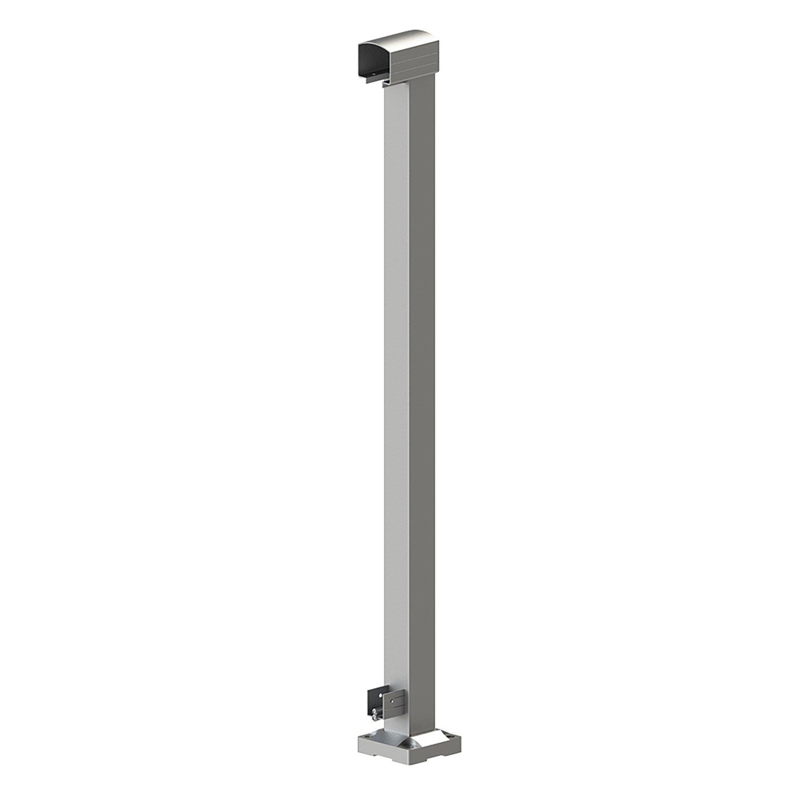 Peak Products 1000mm Silver Aluminium Balustrade End Post