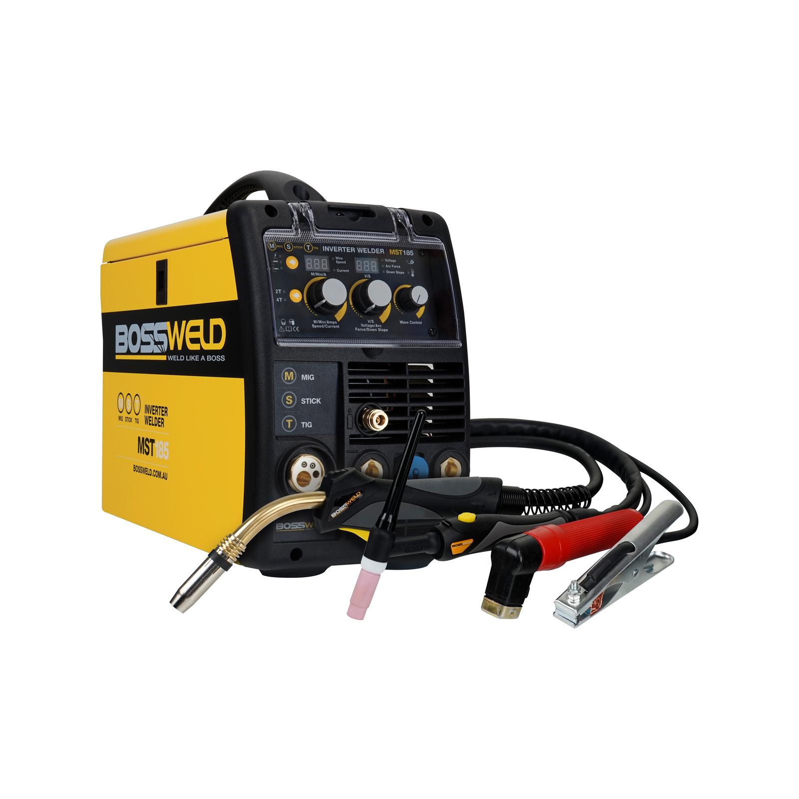 Bossweld 180A MST185 Plus MIG Stick Arc And TIG Inverter Welder
