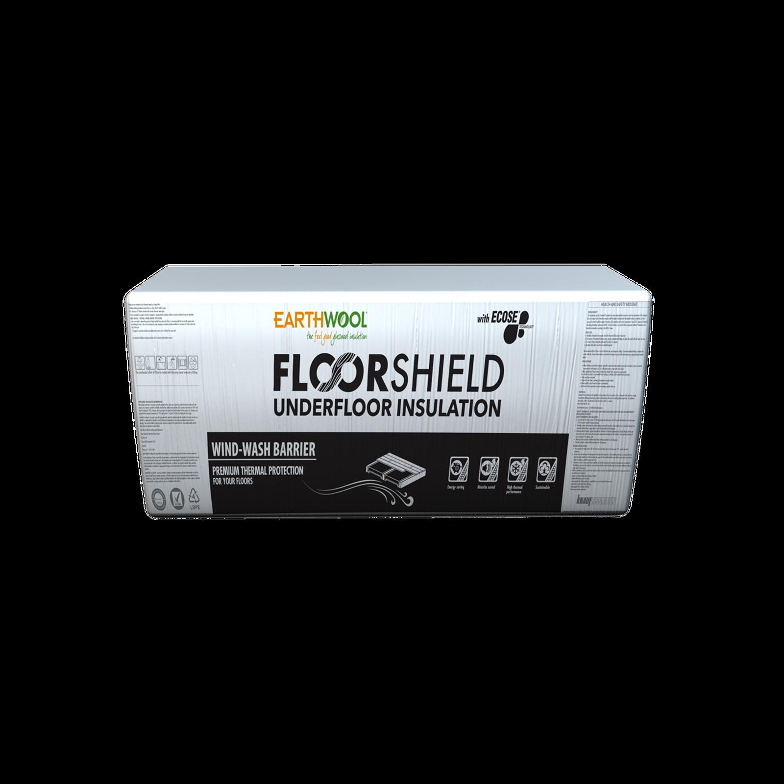 Earthwool R2.5 90mm x 420mm x 1160mm 2.92m² Insulation FloorShield Underfloor Batt - Pack of 6
