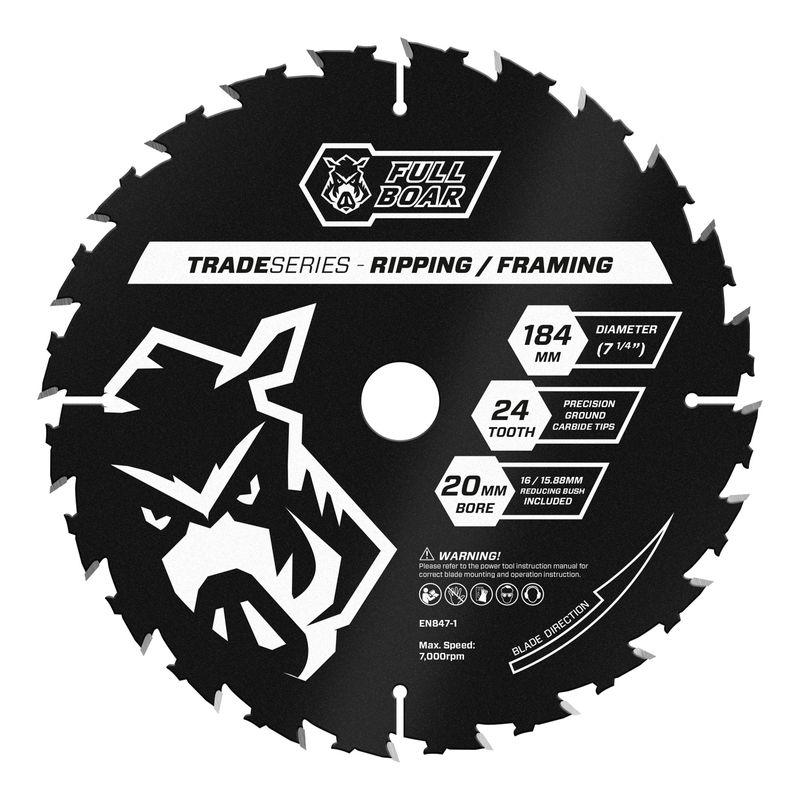 184mm 24t Trade Series Circular Saw Blade