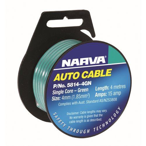 Narva Single Core Cable 15A 4mmx4m Green