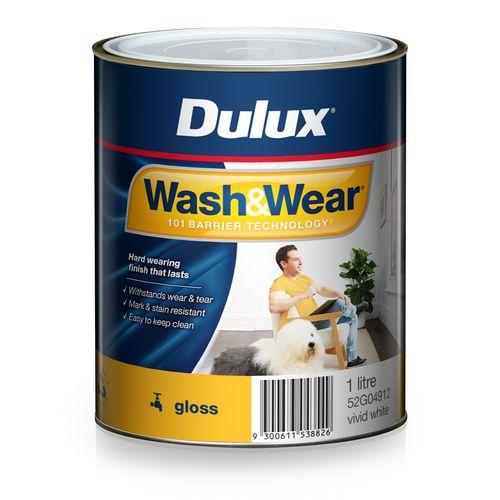 Dulux 1L Interior Paint Wash&Wear Gloss Vivid White