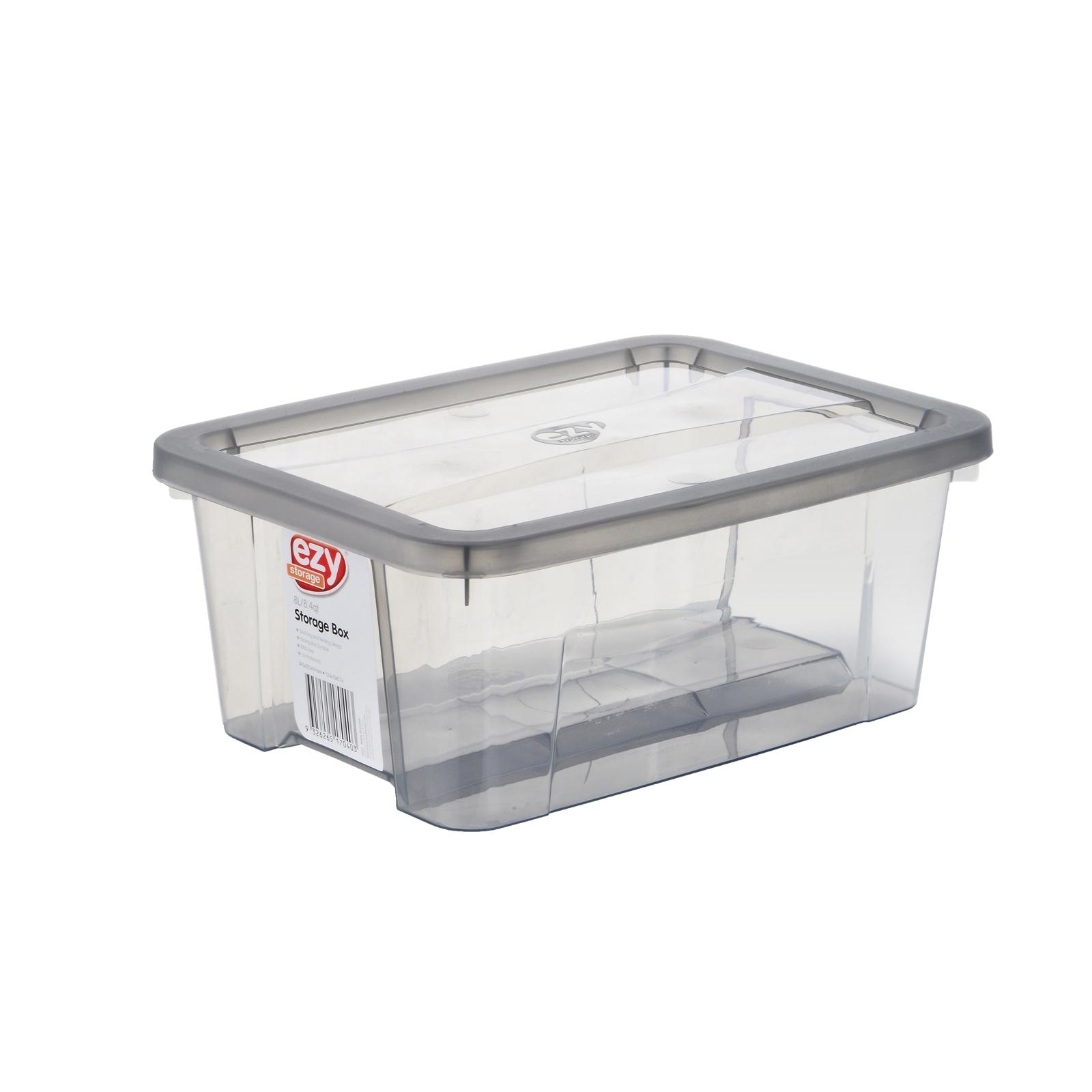 Ezy Storage Grey Storage Tub - 8L