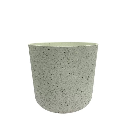 Eden 22cm White Stonelite Sphere Planter