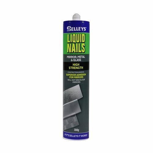 Selleys 310g Liquid Nails Mirror Metal And Glass Adhesive