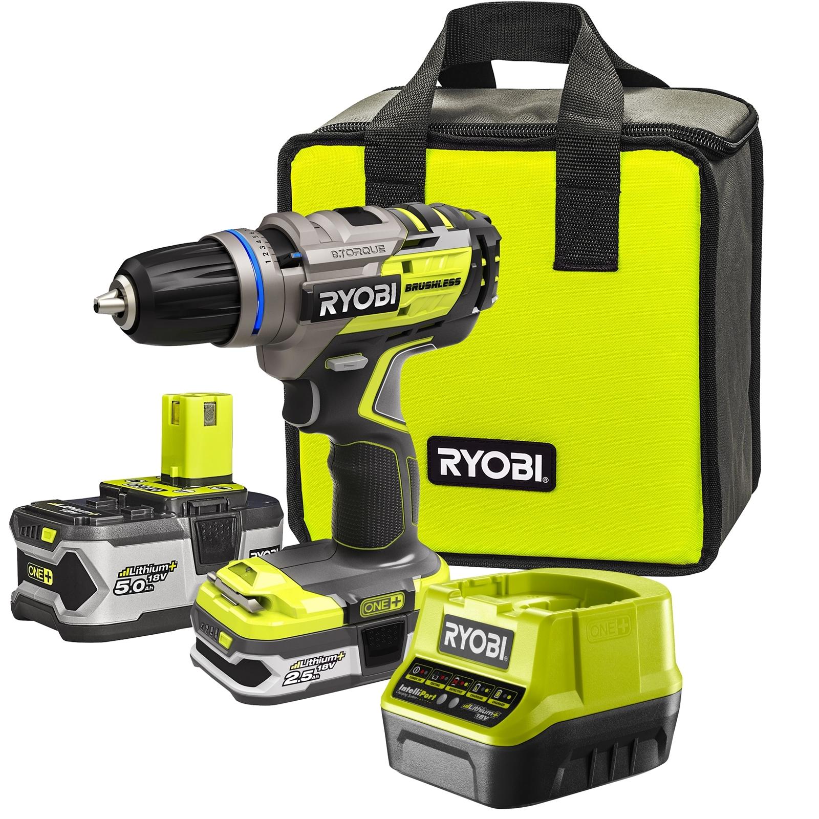 Ryobi 18V ONE+ Brushless Drill Driver Kit