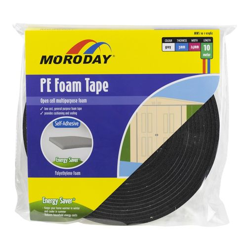 Moroday 24 x 5mm x 10m Grey PE Foam Tape