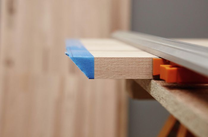 Timber cut on a 45 degree angle