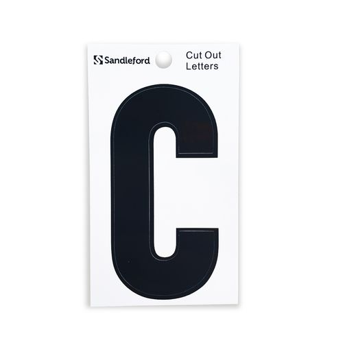 Sandleford 85mm C Black Cut Out Self Adhesive Letter
