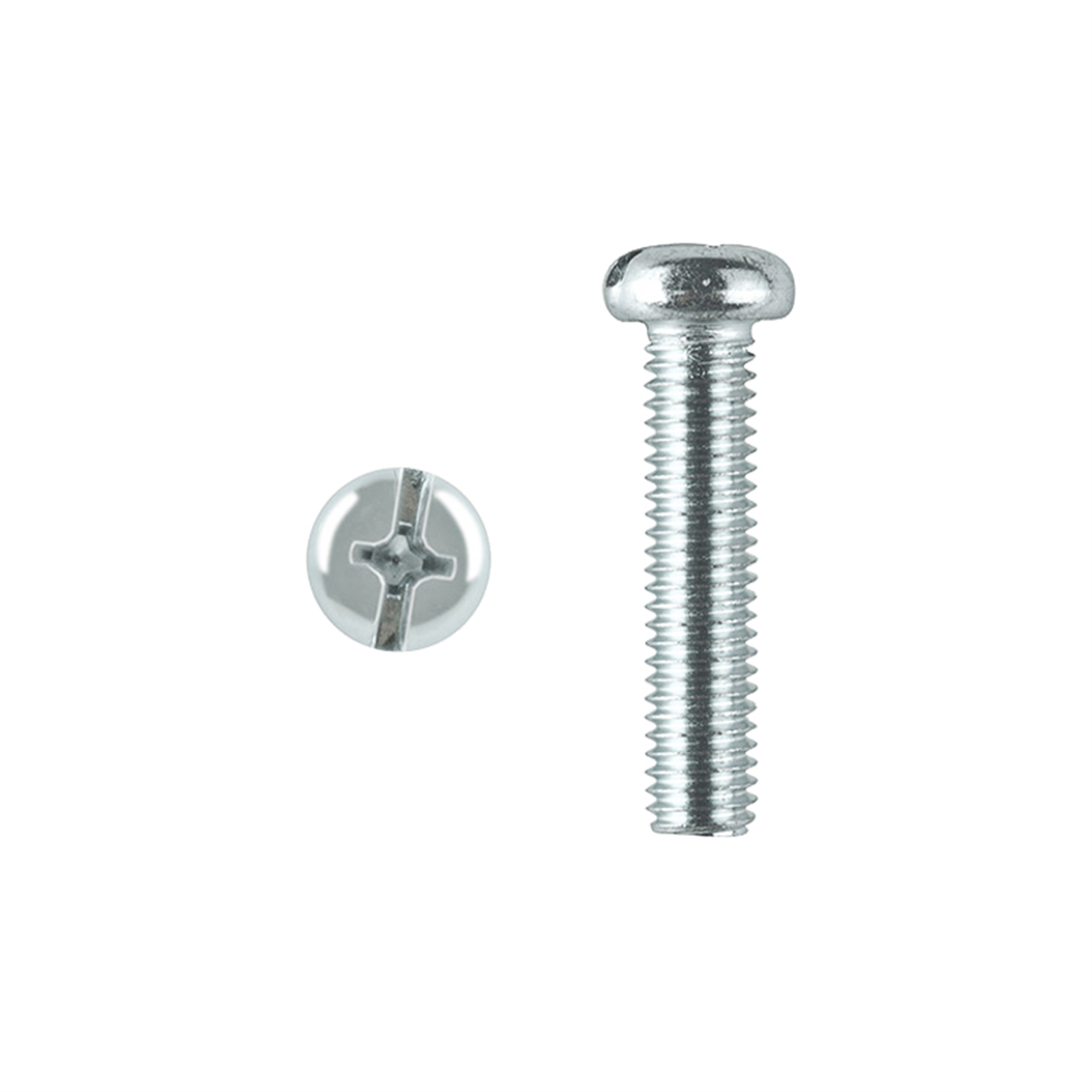 Pinnacle M8 x 65mm Zinc Plated Round Head Bolts And Nuts - 2 Pack