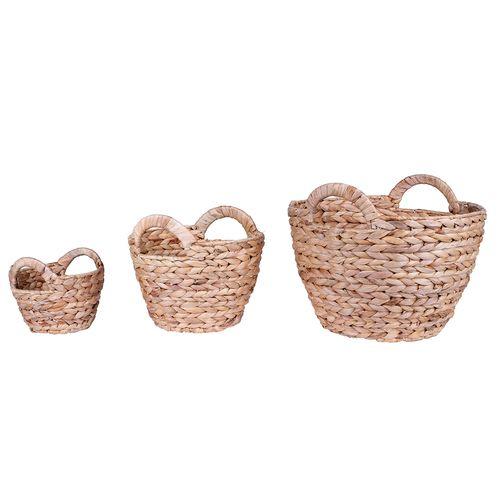 Flexi Storage Living Water Hyacinth Baskets - 3 Set