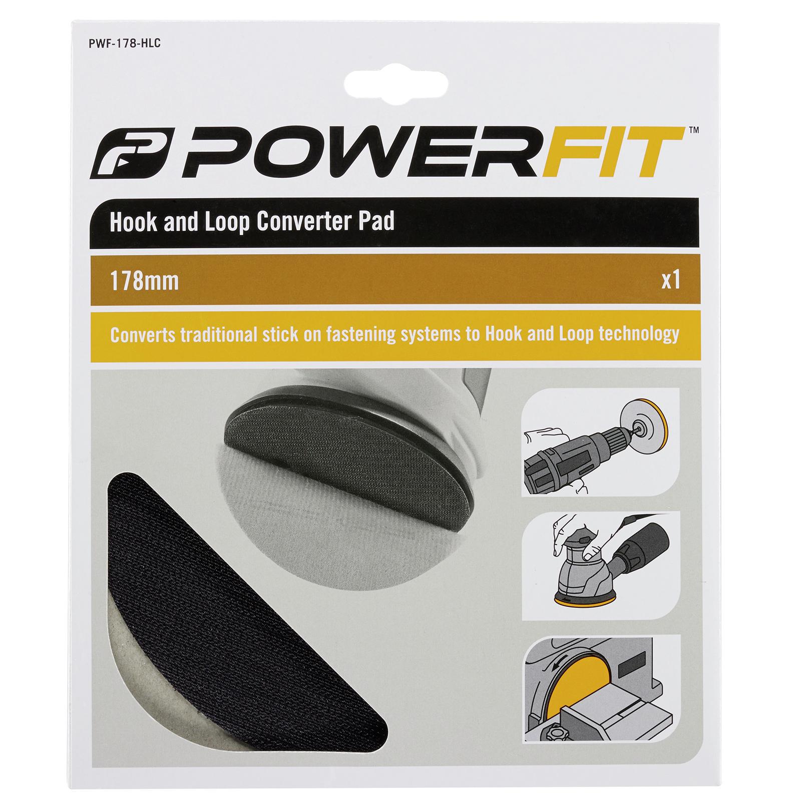 Powerfit 178mm Backing Pad Hook & Loop Converter