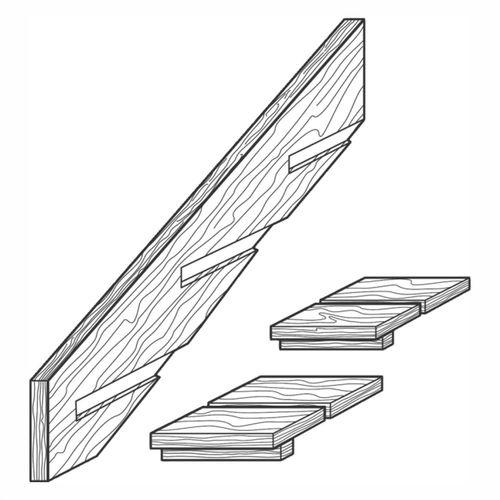 Top Flyte Stair Stringer H4  5 Step 2pc