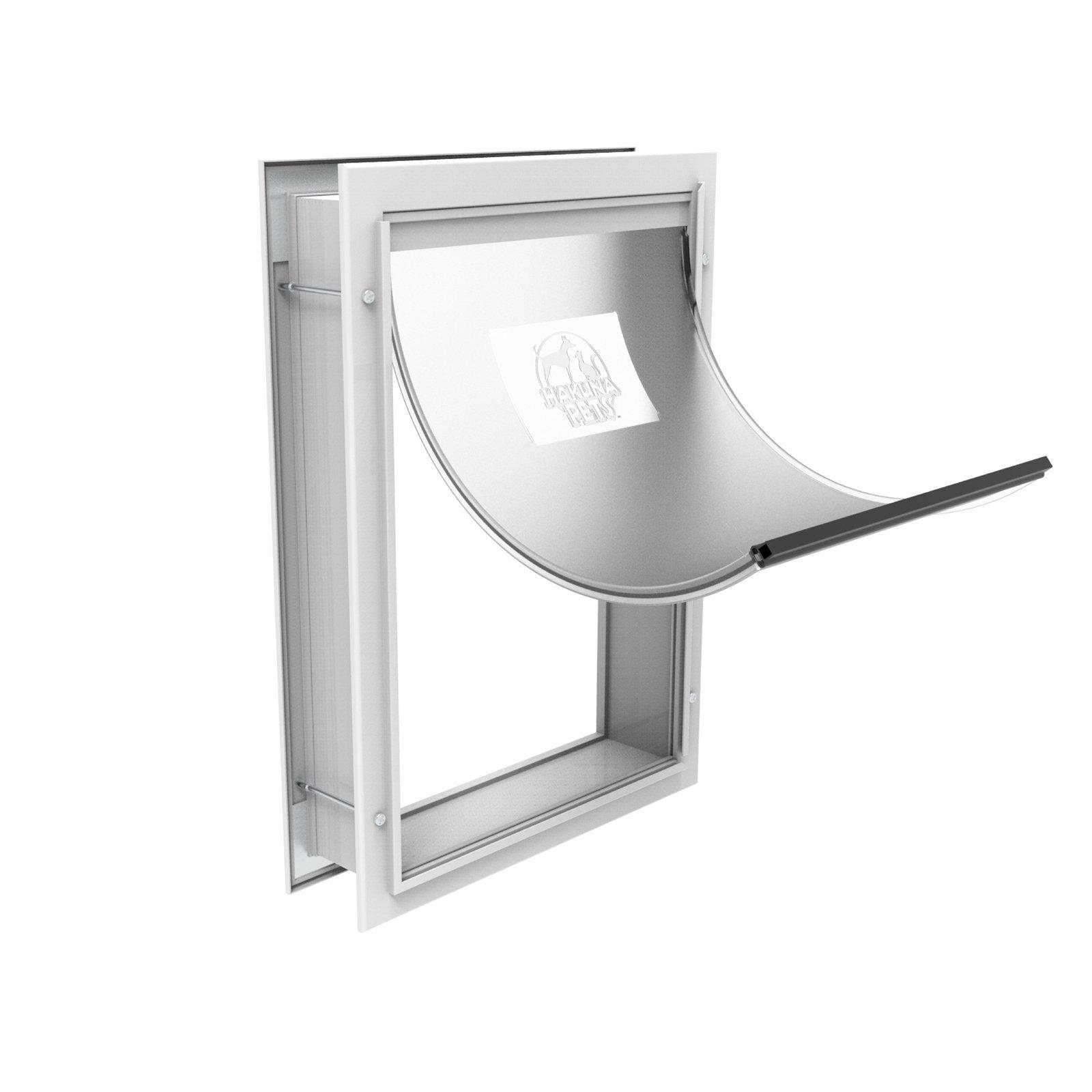 Hakuna Pets Medium White Deluxe Aluminium Pet Door