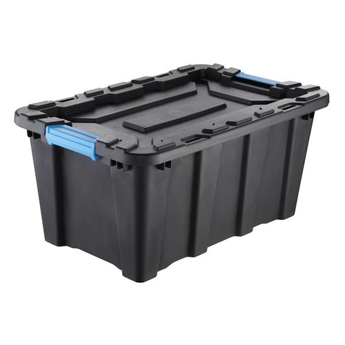 Inabox 40L Heavy Duty Black And Blue Storage Container
