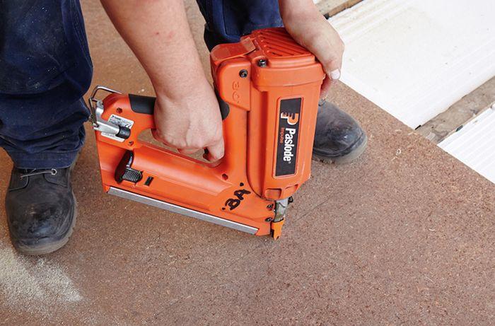 DIY Step Image - How to lay chipboard flooring . Blob storage upload.