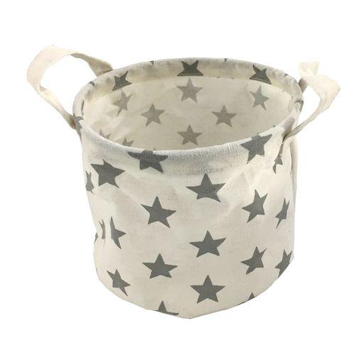 Flexi Storage Kids 26 x 26 x 19cm White / Grey Stars Round Basket