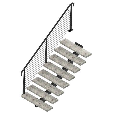 Weldlok Monostringer Concrete And Wire 8 Tread Stair Kit