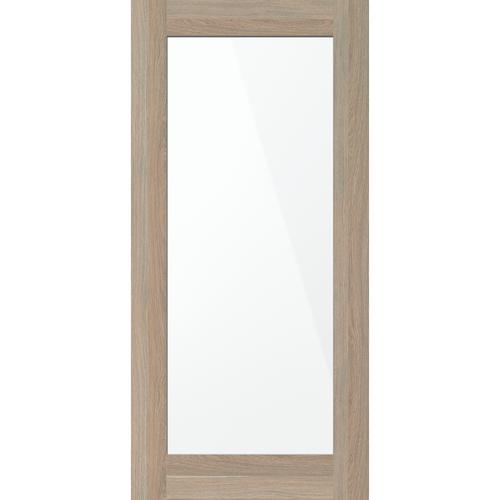inBuilt 25mm 2100 x 1000mm Single-Sided Shaker Mirror Barn Door Valence Oak