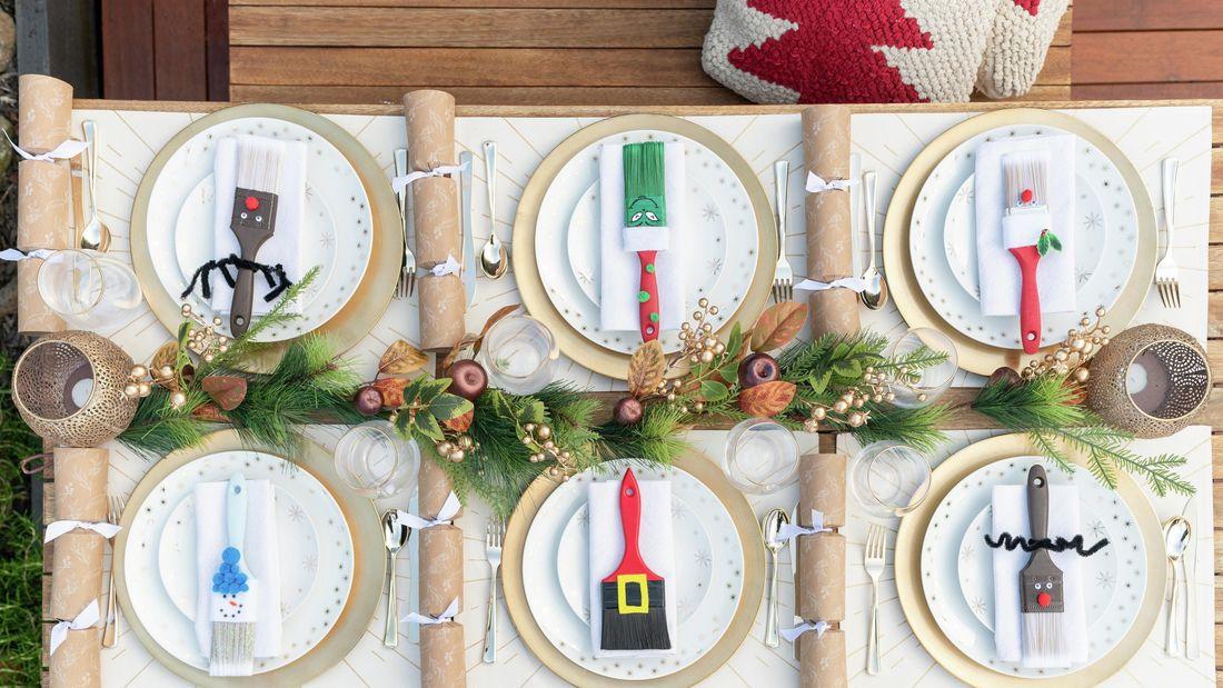 Paint brush christmas decoration