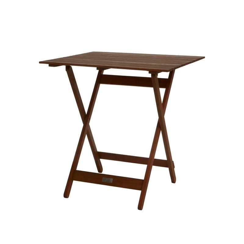 70 x 70 x 74cm Square Folding Timber Table