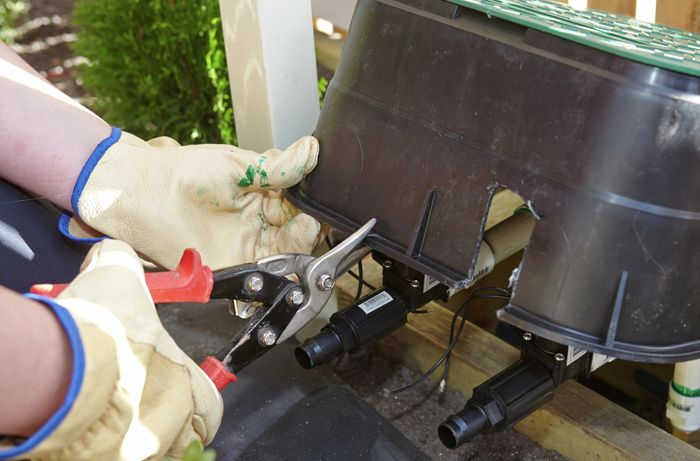 DIY Step Image - How to install irrigation solenoids . Blob storage upload.