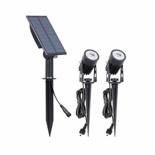 Gardenglo 200lm Solar Powered Twin LED Spotlight