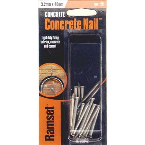 Ramset Concrete Nail 3.2 x 40mm 20pk