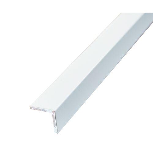 Metal Mate 12 x 12mm x 3m 1.4mm White Powder Coated Aluminium Angle