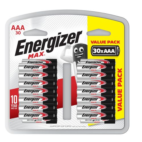 Energizer Max AAA Battery - 30 Pack