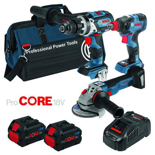 Bosch Blue 18V 3 Piece 2 x 8.0Ah Cordless ProCORE18V Battery Combo Kit