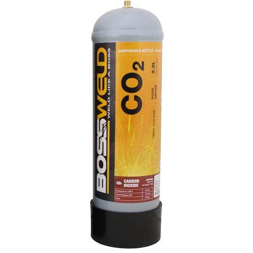Bossweld 2.2L Pure CO2 Disposable Gas Bottle