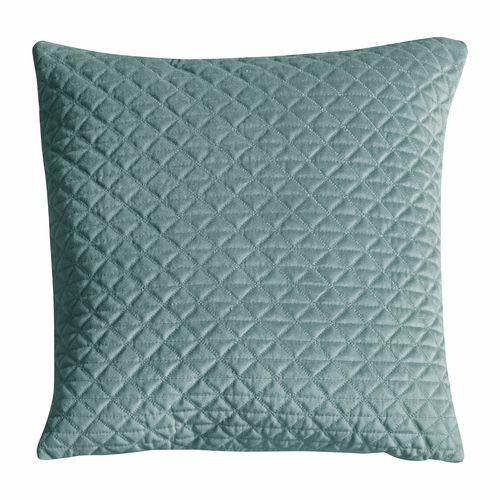 Hudson 450 x 450mm Diamond Quilted Duckegg Cushion
