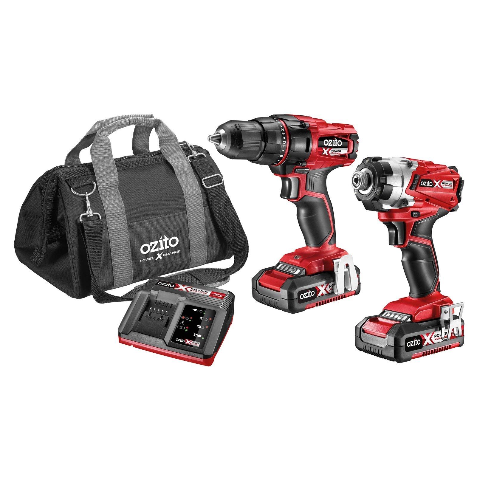 Ozito PXC 18V Drill And Impact Driver Kit