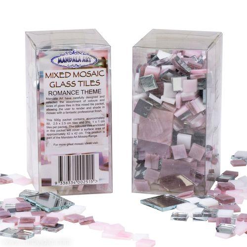 Mandala Art 500g Assorted Size Romance Theme Mosaic Glass Tiles