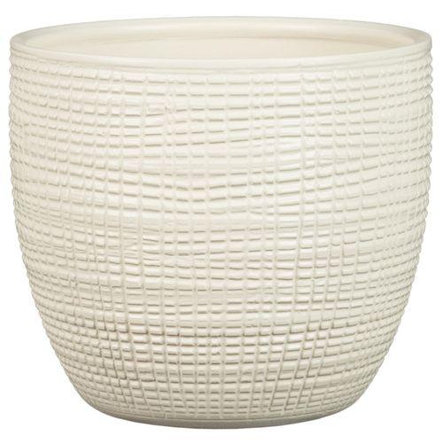 Scheurich 22 x 20cm Corteza Vanilla Ceramic Pot
