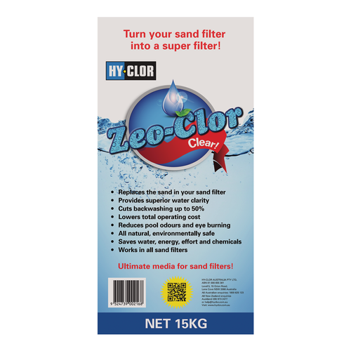Hy-Clor 15kg Zeo-Clor Zeolite Sand Filter Replacement