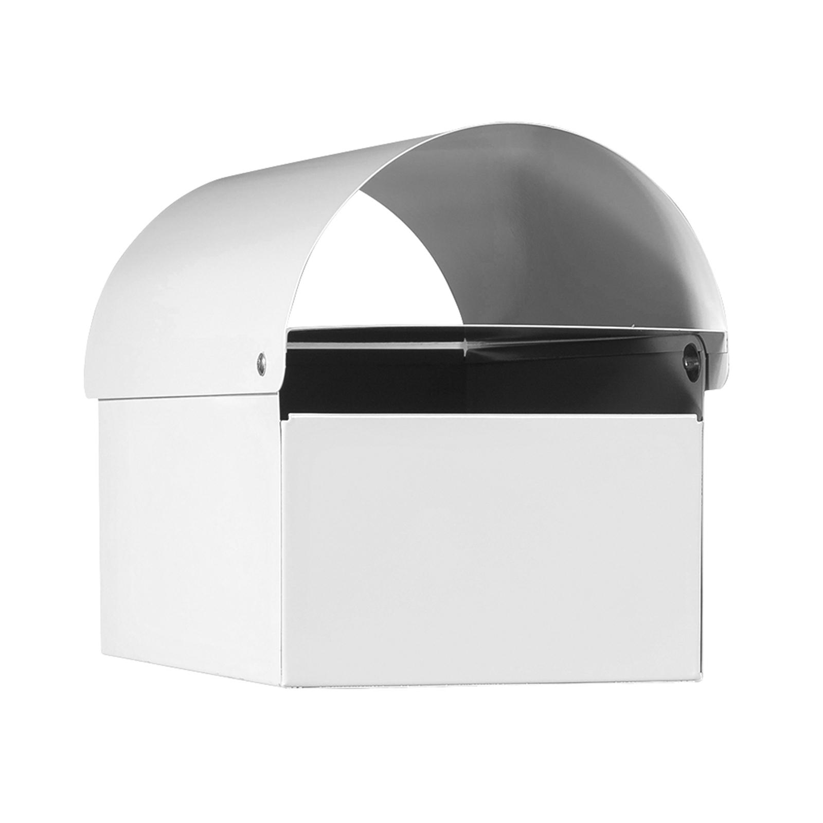 Sandleford White Economy Dune Post Mounted Letterbox