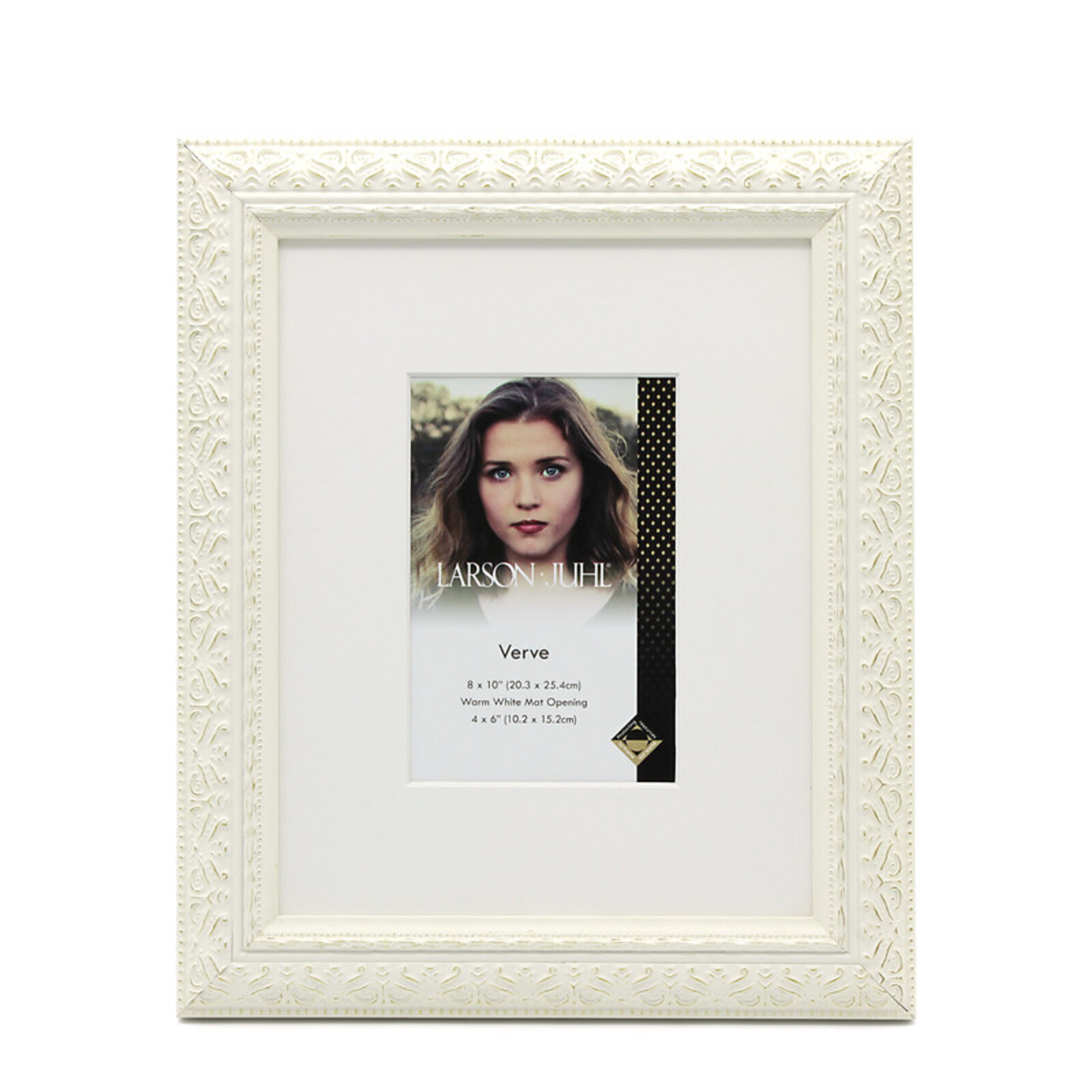 Verve 8 x 10inch/4 x 6inch Opening Matte White Photo Frame
