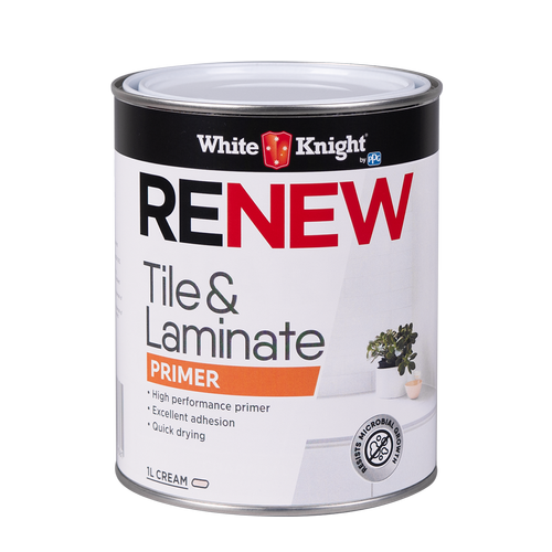 White Knight 1L Renew Tile And Laminate Primer Paint