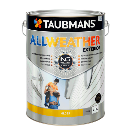 Taubmans 10L Dark Gloss All Weather Exterior Paint