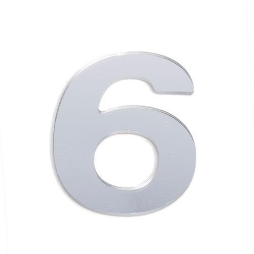 Sandleford 25mm 6 Silver Self Adhesive Numeral